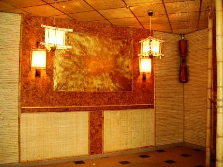 Бамбуковые обои в интерьере помещений