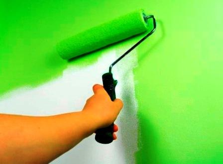 Технология нанесения акриловой краски для обоев