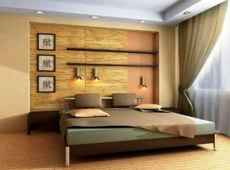 Бамбуковые обои в спальне, решения и фото интерьеров