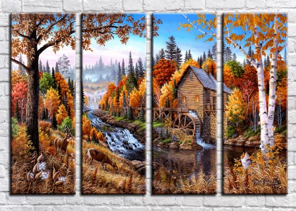 Модульные картины серии Деревенские просторы