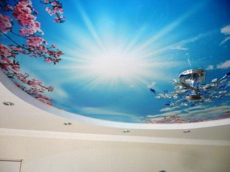 Фотообои «Небо» на потолке, преимущества потолочных фотообоев с изображением неба