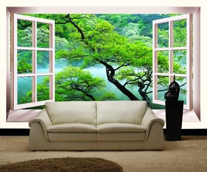 Фотообои Вид из окна: особенности применения в разных комнатах