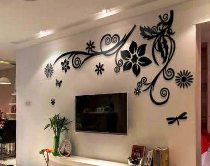 Как использовать акриловые наклейки на стену