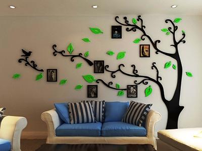 Возможности использования акриловых наклеек на стену