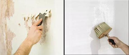Подготовка стен для наклеивания виниловых обоев на бумажной основе