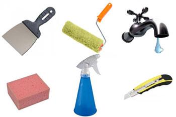 Набор инструментов для снятия виниловых обоев со стен