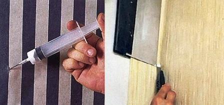 Способы ремонтирования порванных обоев