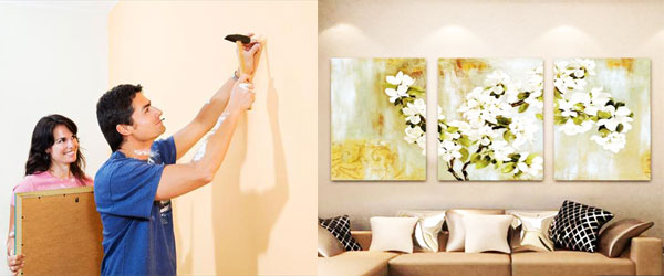 Как закрепить модульную картину на стене - 3 пошаговых инструкции