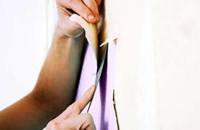 Самый простой способ снять бамбуковые обои - это отдирание от стены