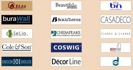 Бренды производителей обоев представленных в каталоге обоев интернет магазина Мир пола и декора