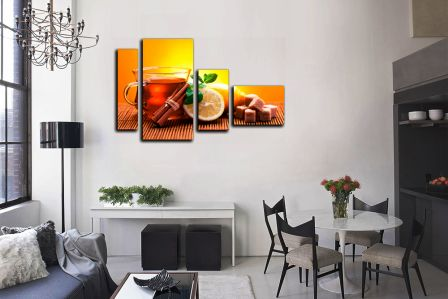 Модульная картина на однотонной стене