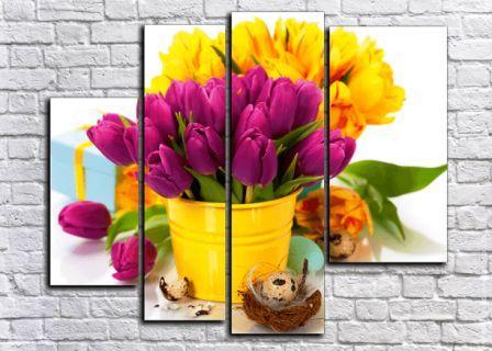 Каталог модульных картин Тюльпаны