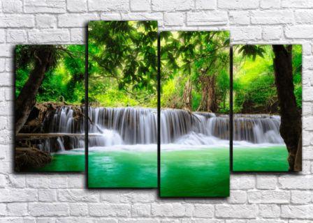 Каталог модульных картин с водопадом