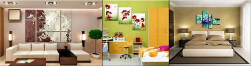 Примеры модульных картин для гостиной, детской и спальни